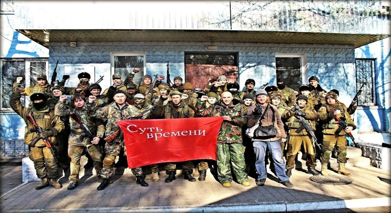 Graham Phillips & Patrick Lancaster celebrating with Russian led forces