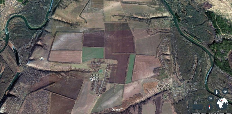 Obozne - Location of Russian tanks on Ukraine's frontline 1