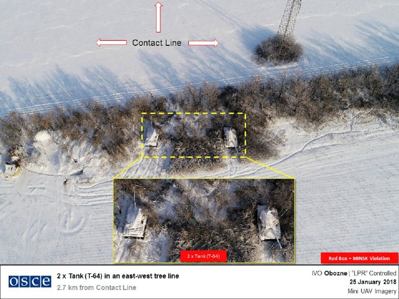 Obozne - Location of Russian tanks on Ukraine's frontline 2