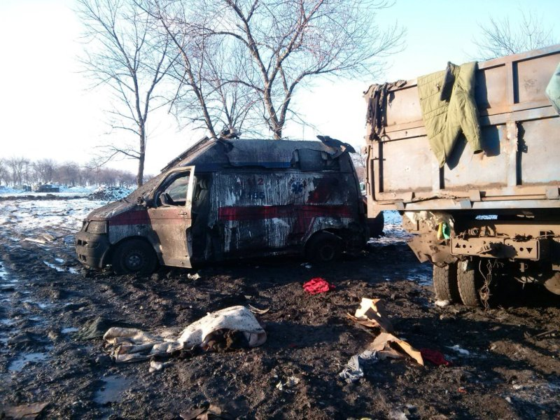Ukrainian amubulance used for fake Russian story 2