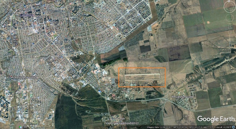 Tank location Luhansk