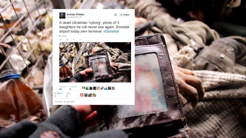 graham phillips loots dead ukrainian soldier