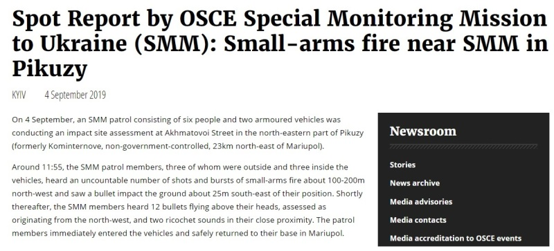 OSCE fired on 1